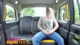 Female Fake Taxi Hot blonde breaks passengers cock during rough fucking