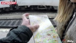 LETSDOEIT - Teen Blonde Lured with Sex in the Train Station