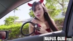 Mofos - Stranded Teens - Jade Kush - Big Asian Tits In Sexy Costume