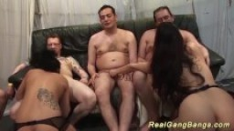 real gangbang fuck orgy with hot chicks