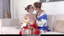 LittleAsians - Cute Geisha Gets Her Pussy Eating