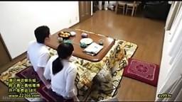 Mom Son under table sex challenge