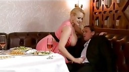 Dinner Date With Busty Plumper