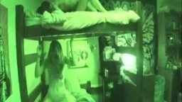Awesome College bunk bed fuck in the dorm
