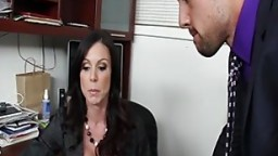 Busty Kendra Lust rides boss cock in order to keep her job