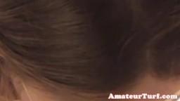 Masked blonde european amateur cocksucking