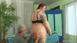 BBW Has Her Fat Body and Hairy Pussy Massaged