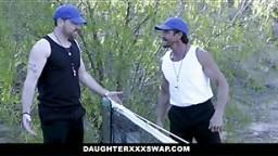 DaughterSwap Horny Tennis Girls Ride Stepdads Cock