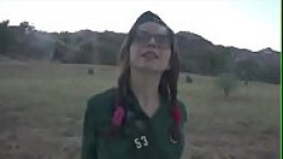 Young horny girl scout fucked hard