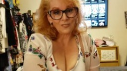 Taboo Blonde MILF Cougar Mom with glasses Teaches Step Son Family Therapy