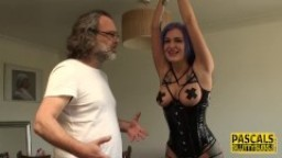 Bound submissive fucked