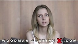 Anal penetrating blonde teen in casting