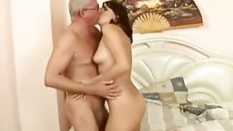 Old Man Seduces Young Teen Anal Cream Pie