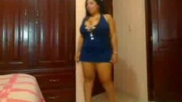 Gorgeous Dominican BBW undressing