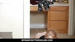 MyBabySittersClub - Blonde Babysitter Fucks Older Dad