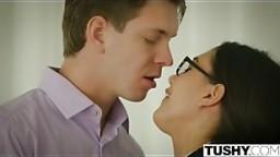 TUSHY Anal Lessons for Sexy Nerd Maya Grand
