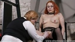 Lesbian play piercing punishment and extreme amateur bdsm of Dirty Mary in needle torture and hardcore masochist enslave