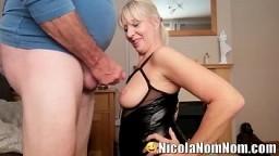 Mature Wife Making Her Husbands Friends Shoot Cum