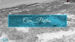 Stranger again cum in my panties on the beach