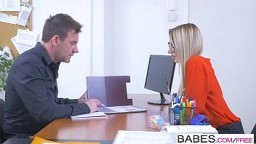 Office Obsession - She Gets The Job  starring  Katrin Tequila and Victor Solo clip
