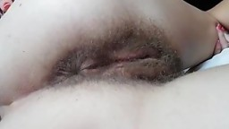 milf hairy pussy gape and finger in asshole