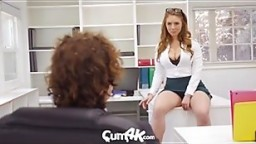 CUM4K MULTIPLE DRIPPING creampies with office secretary Lena Paul