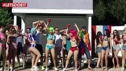 LETSDOEIT - College BFFs plan Their Reunion - Part 1 (Abella Danger, Valentina Nappi, Vicki Chase) 11 min