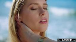 BLACKED BBC-loving Busty Blonde seduces handsome stranger 13 min