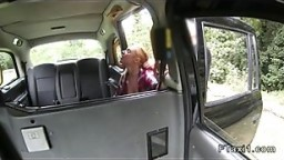Fake taxi driver bangs huge tits babe outdoor