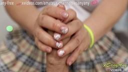 I Cum in Soft Hands of Japanese Teen.Oil Handjob XSanyAny 10 min