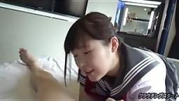 Japanese schoolgirl creampied by big cock uncensored
