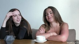 Public blowjob in the RESTAURANT ! Her Sister is watching . Mia Piper 22 min