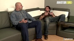AMATEUR EURO - (Lola Candy, Mickael Cheritto & Fabrice Triple X) French Cougar Tries DP With Her Lovers 14 min