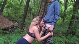 Huge and extreme cumshot: public blowjob (cum covered face) 9 min